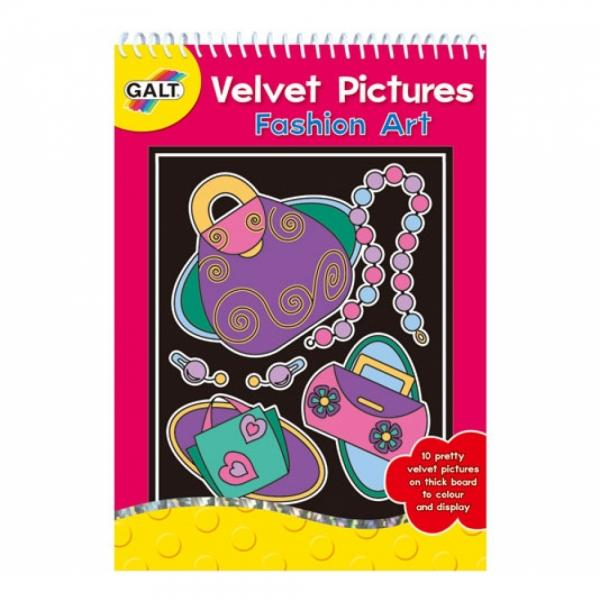 GALT Planse de colorat din catifea Arta modei