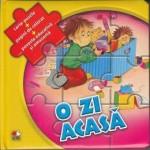 O zi acasa – Carte-Puzzle + Pagini de colorat + Poveste educativa si amuzanta
