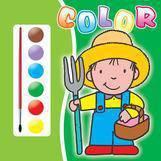 Teora Carte de colorat 4- contine acuarele si pensula