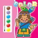 Teora Carte de colorat 3- contine acuarele si pensula