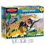 Melissa&Doug Puzzle de podea Safari social (24 piese)