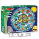 Melissa&Doug Puzzle de podea Copiii lumii (48 piese)