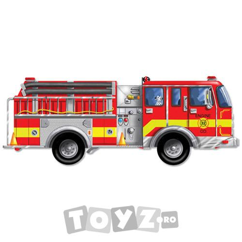 Melissa&Doug Puzzle gigant de podea Masina de pompieri (24 piese)