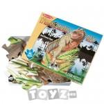 Melissa&Doug Puzzle de podea Tyrannosaurus Rex (48 piese)