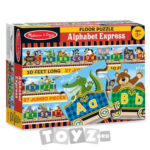 Melissa&Doug Puzzle gigant de podea Alfabet Express (27 piese)