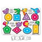 Melissa&Doug Puzzle lemn Forme geometrice  (8 piese)