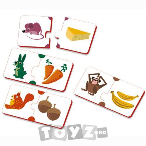 Miniland Puzzle Hrana animalelor