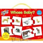 Galt Set 15 puzzle-uri de asociere Whose baby? (2 piese)