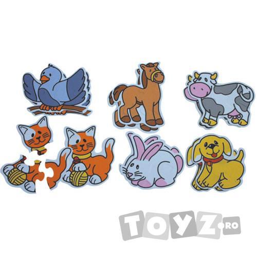 Miniland Puzzle tematic cu animale (3-5 piese)