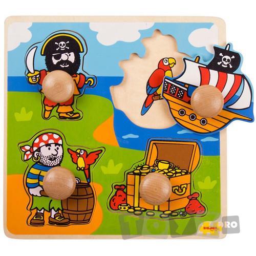 Bigjigs Primul meu puzzle – Lumea piratilor