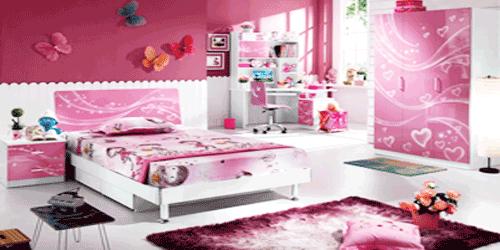 Articole de mobilier, lenjerie si decoratiuni pentru camera copiilor.