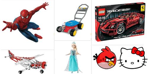 Jocuri, costume si jucarii tematice cu eroii din desene animate sau din filmele pentru copii.