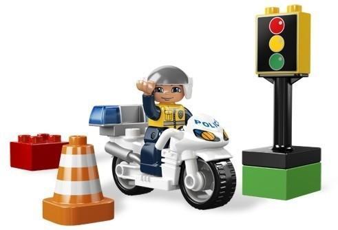 LEGO Motocicleta de politie din seria LEGO Du