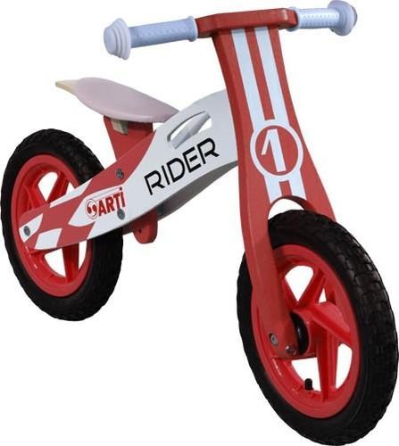 Generic Bicicleta Fara Pedale Din Lemn ARTI Rosu 1