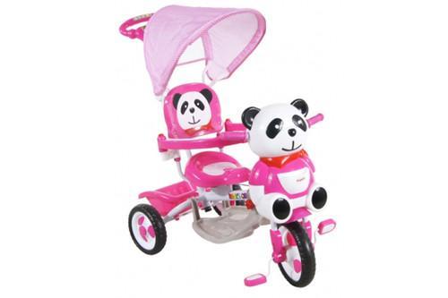 Generic Tricicleta Copii Cu Copertina ARTI Panda 1 Roz