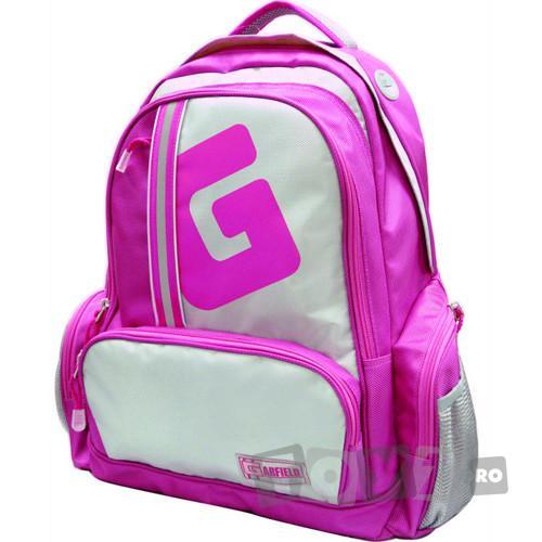 MediadocsPublishing Ghiozdan Garfield complet echipat (roz)