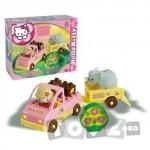 AndroniGiocatolli Set constructie cuburi Hello Kitty Mini Safari