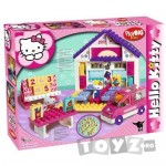 BIG Hello Kitty Scoala + Masina Set 89 Cuburi