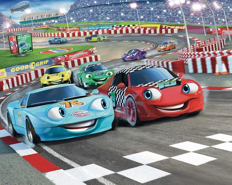 Walltastic Fototapet Masini de Curse (Car Racers)