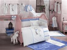 Kidboo Set Lenjerie Pat Copii 9 Piese Little Farmer Blue