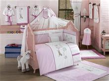 Kidboo Set Lenjerie Pat Copii 9 Piese Little Farmer Pink