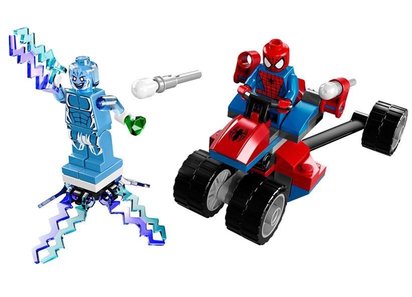 LEGO Mototriciclu-Paianjen contra Electro (76014)