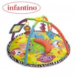 Infantino Infantino – Salteluta de activitati invarte si pliaza Baby Animals