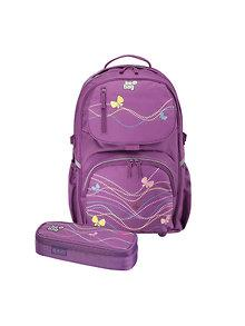 Herlitz Rucsac Be.Bag ergonomic + penar Cube Butterfly Stars Bundle