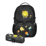 Herlitz Rucsac Be.Bag ergonomic + penar Be.Bag Cube Smiley World Black