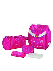 Herlitz Ghiozdan echipat Flexi Plus Pink Butterfly