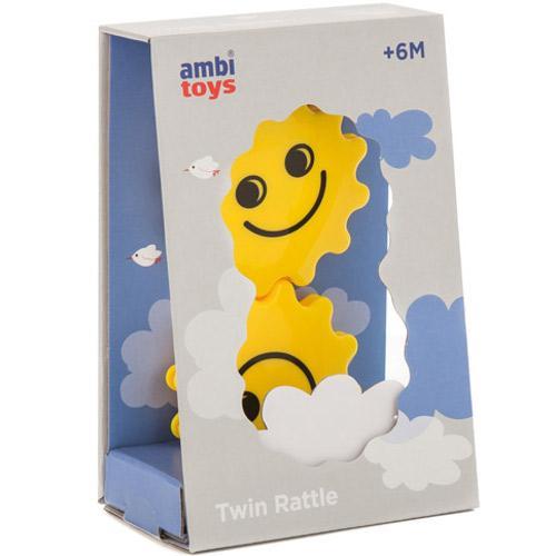 Ambi Toys Twin Rattle – Jucarie Dentitie Fete zambitoare