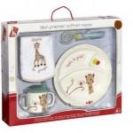 Vulli Primul meu set pentru masa melamina Girafa Sophie Kiwi cutie cadou