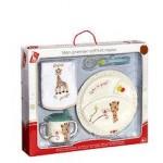 Vulli Vulli – Primul meu set masa melamina Sophie la Girafe & Kiwi cutie cadou 6 luni+