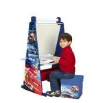 Delta Children Set mobilier 3 in 1 sevalet birou si taburet Disney Cars