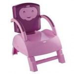 Thermobaby France Thermobaby France – Booster seat 2 in 1 scaunel atasabil la masa + scaunel de joaca pentru copil cu masuta detasabila mov/roz