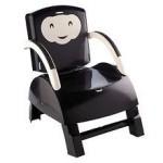 Thermobaby France Thermobaby France – Booster seat 2 in 1 scaunel atasabil la masa + scaunel de joaca pentru copil cu masuta detasabila ivoar/negru
