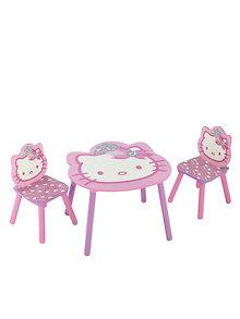 Delta Children Set mobilier masuta si 2 scaunele Hello Kitty
