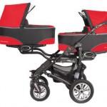 Generic Carucior Pentru Gemeni BABY ACTIVE Twinni Mexican Red