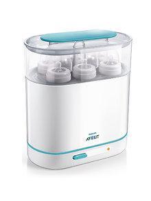 Avent Sterilizator de biberoane electric cu abur 3 in 1 Avent 0-6 luni