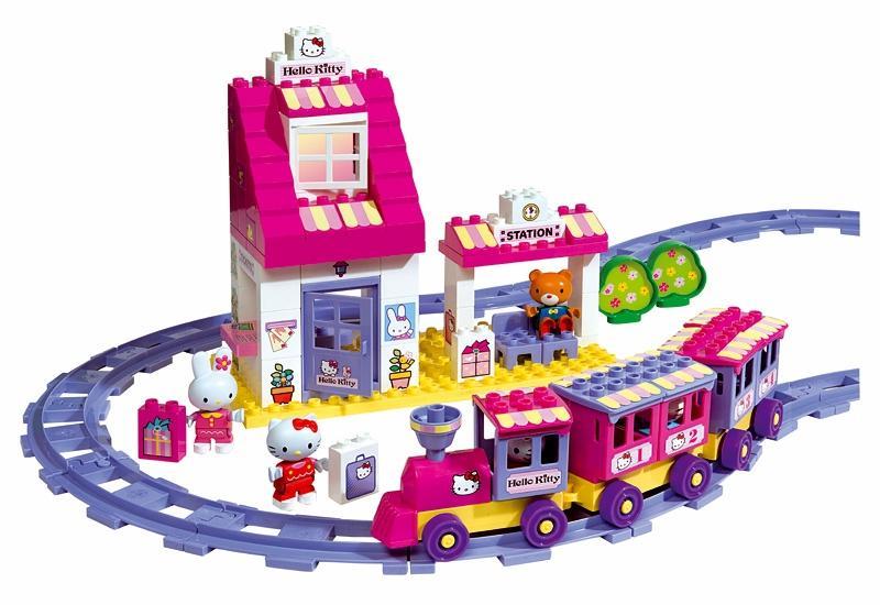 BIG Cuburi Statie de tren Big Hello Kitty
