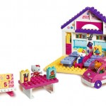 BIG Scoala + Masina set 89 de cuburi Big Hello Kitty