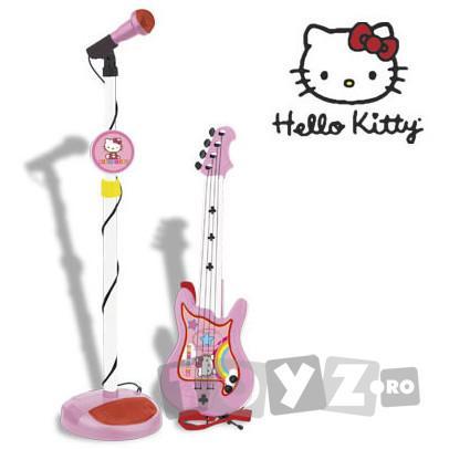 ReigMusicales Set chitara si microfon Hello Kitty 1494