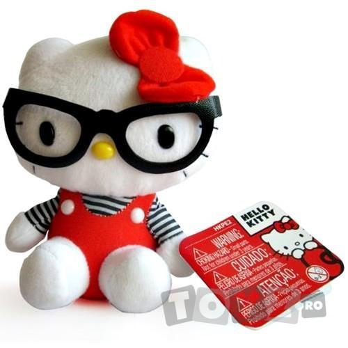 Intek Mascota Hello Kitty 16 cm,cu ochelari