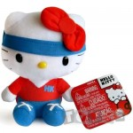 Intek Mascota Hello Kitty 16 cm,cu bentita albastra