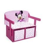 Delta Children Mobilier 2 in 1 depozitare jucarii Disney Minnie Mouse