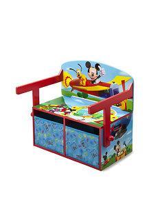 Delta Children Mobilier 2 in 1 depozitare jucarii Disney Mickey Mouse