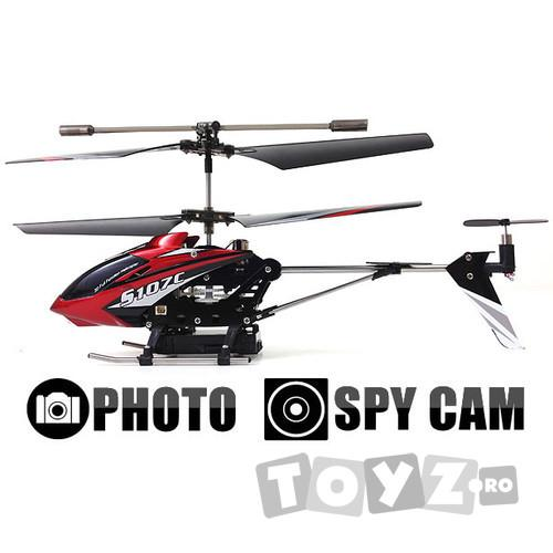 SYMA Mini elicopter cu telecomanda si CAMERA VIDEO, Syma S107C
