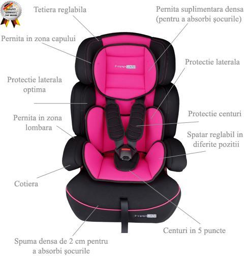Baby Go BabyGo Scaun auto FreeMove Pink