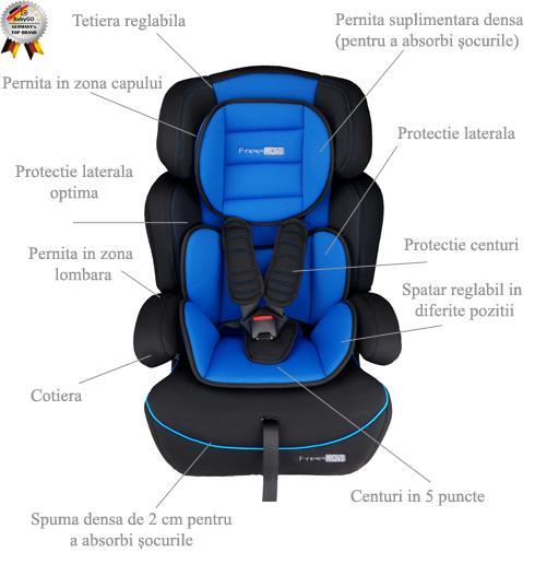 Baby Go BabyGo Scaun auto FreeMove Blue
