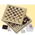 Joc 7 in 1 in cutie de lemn
